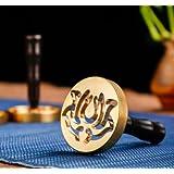 銅製香篆香 拓香印香模 香道用具用品 打拓香模香 灰押灰压 (ハス6cm)