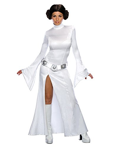 Princess Leia Costume White Gown Star Wars Movie Theme SciFi Sizes: Medium (Princess Leia Costume Ideas)