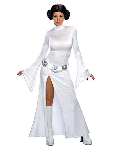 Princess Leia Costume White Gown Star Wars Movie Theme SciFi Sizes: (Sci Fi Halloween Costumes Ideas)