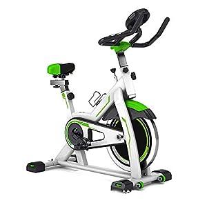 41Hbuh 7jvL. SS300 GOHHK Cyclette Indoor, Spin Bike Studio Cicli Cyclette Cardio Fitness Cyclette Magnetica Manubri Regolabili Caratteristiche Sedile velocità Tempo Distanza Calorie capacità di carico Massima 150 kg