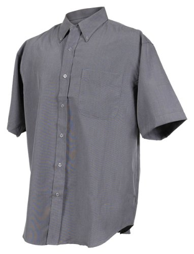 Tri-mountain Mens rayon/poly short sleeve shirt with mini-houndstooth pattern. - PACIFIC BLUE - 4XLT - Houndstooth Woven Shirt