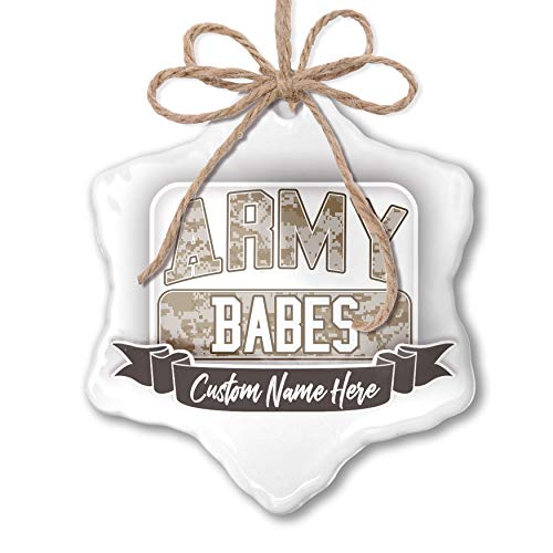 NEONBLOND Create Your Ornament Army Babes, Camo Personalized -