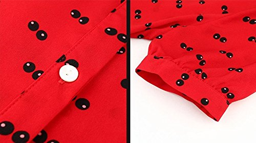 Dress Red Dress Red Lady And Temperament Slim Bobbycool Shirt Polo Blue PvqYPwxp