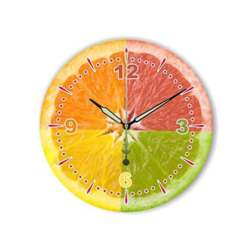 (Modern Lemon Wall Decoration Wall Clock with Waterproof Clock Face Fashion Beautiful Home Decoration Kitchen Wall Clock Watch,Style 2,16 inch)