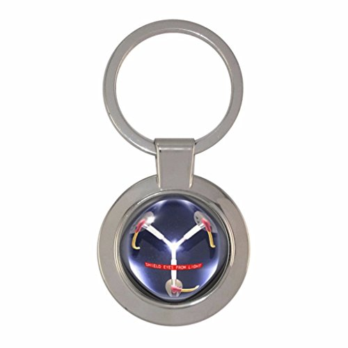 - Chunky Circle Keyring Flux Capacitor design