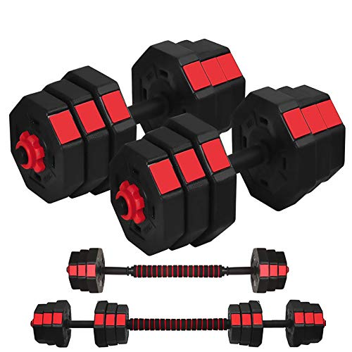 Printasaurus Weight Dumbbells Set,Adjustable Dumbbells Set 66LB//88LB Barbell Set for Men and Women Home Fitness Weight Set Gym Workout Exercise Training with Connecting Rod
