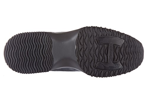 Hogan scarpe sneakers donna camoscio nuove interactive h laminata grigio