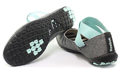 Reebok RealFlex Slim Essential Donna Yoga Fitness Scarpe, Grigio