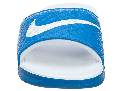 Nike Womens Benassi Solarsoft Slide Sandaal Stijgend / Wit
