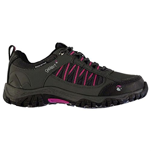 Charcoal Trekking Waterproof Hiking Shoes Outdoor Walking Womens Gelert Horizon Low AxBq4U