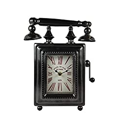 Ashton Sutton Phone Shaped Metal Case Table Clock