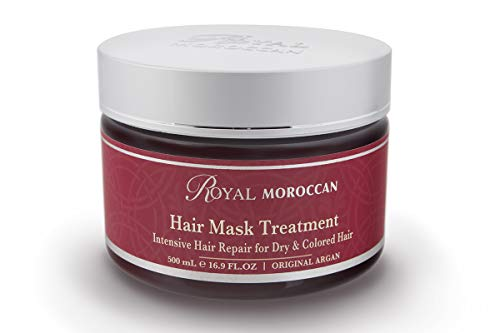 Hair Mask Treatment For Dry Hair Royal Moroccan Formula – Moisturizing For Dry and Colored Hair 500 ml 16.9 fl.oz, Base Of Moroccan Argan Oil, For Color Treated Hair, Frizzy Hair.