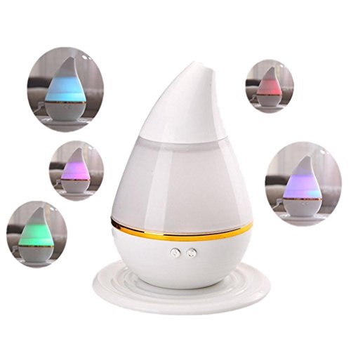 Liping USB 7 Color LED Ultrasonic Air Humidifier Oil Purifier Aroma Diffuser Aromatherapy Night Light, Relaxing Light Show for Bedroom Living Room (A)