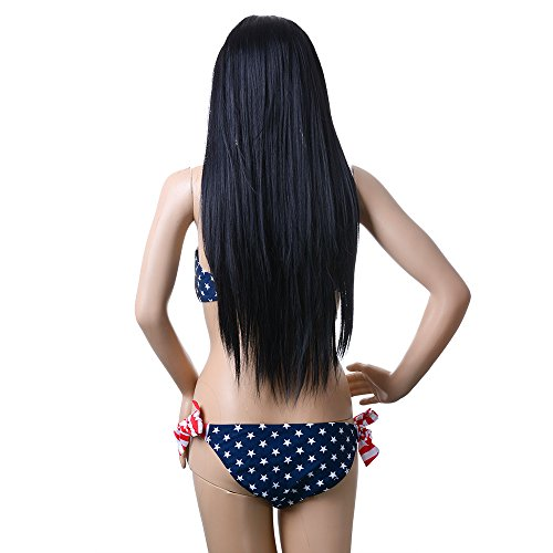 AGPtek 24 Inch Straight Long Beautiful Black Wig Hair