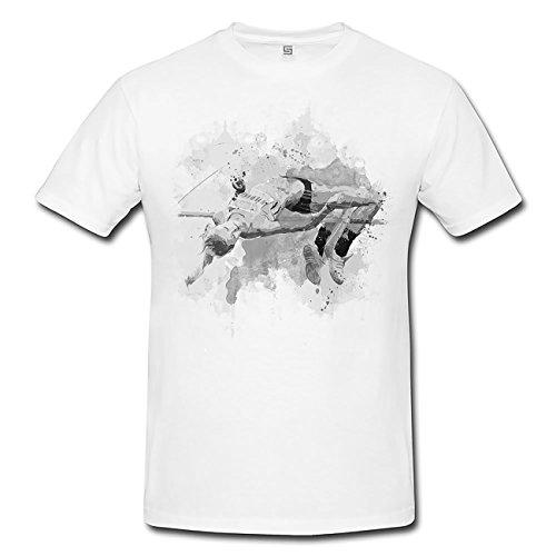 Hochsprung T-Shirt Herren, Men mit stylischen Motiv von Paul Sinus