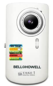 Bell+Howell Take 1 Digital Video Camcorder with  1.5-Inch Flip Out LCD Screen and Flip US (White) (Discontinued by Manufacturer)