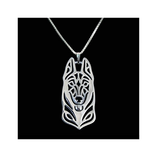 Belgium Malinois Necklace Silver-Tone