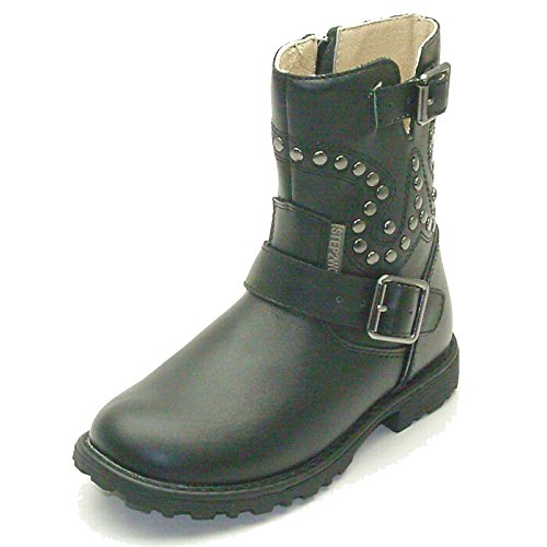 Presis In Girls Botte Mid Leather Boot Milieu Calf Step2wo Black For gwaxngrP4q