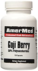 Goji Berry Extract (Wolfberry) - 120 Capsules - 30 day supply - 3200mg per serving - Amermed