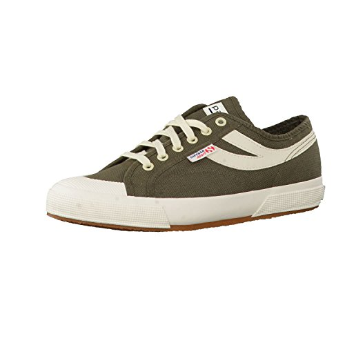Superga 2750-cotu panatta ecru-navy Green Military-ecru