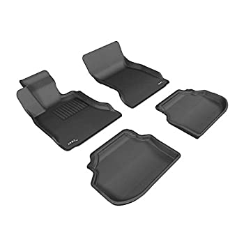 Image of 3D MAXpider Complete Set Custom Fit All-Weather Floor Mat for Select BMW 5 Series (F10) Models - Kagu Rubber (Black)