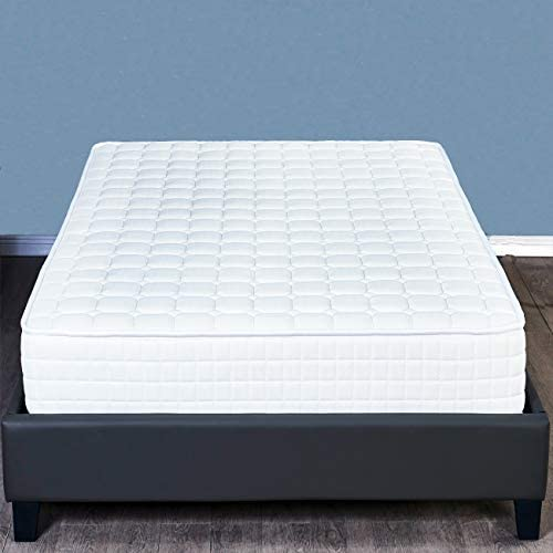 Memory Foam Mattress 8 Inch, Hybrid Innerspring Twin Size Mattresses Bed in a Box – Firm Comfort Level – White.UPS