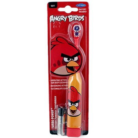 Angry Birds Smile Guard Turbo Power Battery Powered Toothbrush (Colors May Vary)