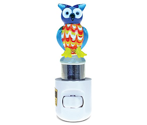 Puzzled Owl Handcraft Art Glass Decorative Night Light Home Décor - Animal Theme - Unique and Elegant Gift - Item #9632