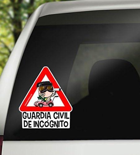 Vinilo coche - Missborderlike - Pegatina para coche - Guardia Civil de incógnito: Amazon.es: Hogar