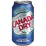 Canada Dry Club Soda Soft Drink, 12-Ounce (Pack of 24)