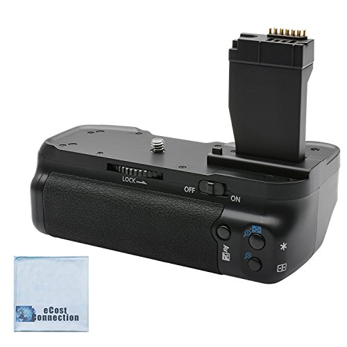 Battery Grip for Canon T6i/T6S DSLR Cameras + eCostConnection Microfiber Cloth