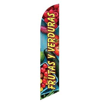 Amazon.com : Frutas Y Verduras Advertising Feather Flag ...