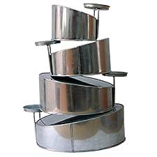 Topsy Turvy 4 Tier Round Cake Pans Tins