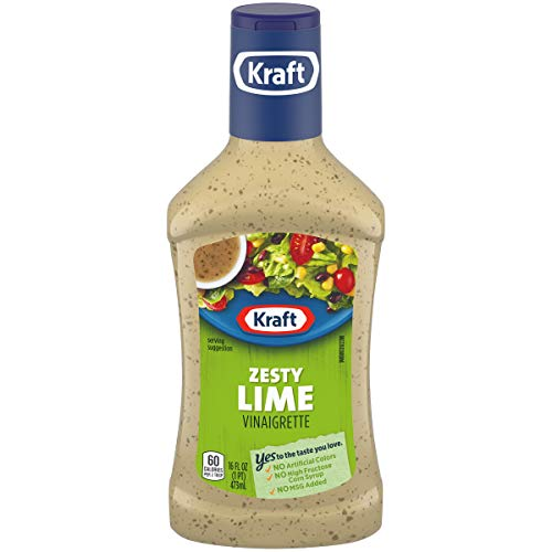 Kraft Zesty Lime Vinaigrette Dressing (16 oz Bottle) (Best Store Bought Caesar Dressing)