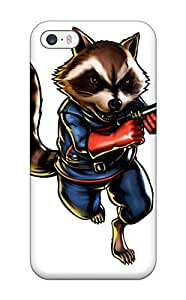 Hot Tpu Cover Case For Iphone/ 5/5s Case Cover Skin - Rocket Raccoon