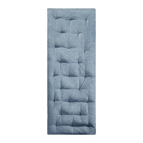 Intelligent Design Edelia Poly Chenille Lounge Floor Pillow Cushion, 27x74, Aqua (A Cushions Design)