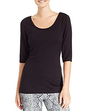 Calvin Klein Performance Wrap Back Top-BLACK-X-Small