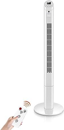 Opinión sobre FHDF Ventilador de Torre silencioso oscilante con Mando a Distancia, Portátil Bladeless aspas Tower Fans LED Digital 3 velocidades 3 Modos 7.5 Horas Temporizadorr para El Hogar Y La Oficina (H126cm,