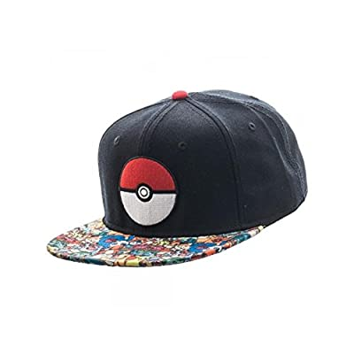 Superheroes Brand Pokemon Pokeball Sublimated Bill Snapback Hat/Cap By