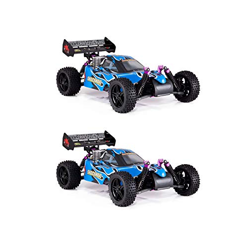 Control Nitro Gas Remote Car (Redcat Racing Shockwave 1/10 Scale Nitro Engine 4x4 RC Remote Control Buggy (2 Pack))