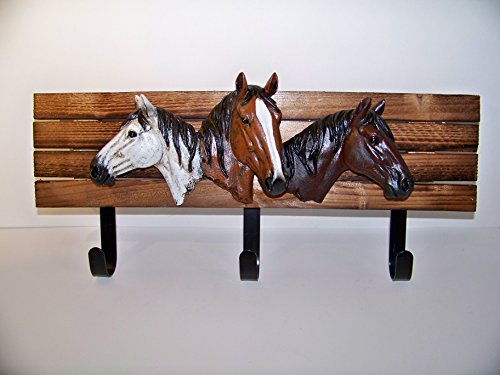 Horse Head Wall Hooks for Clothes Towels Cowboy Hats Gifts Western Country Décor ()