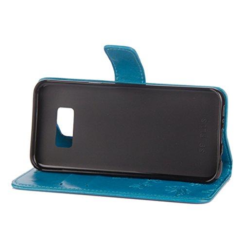 Samsung S6 Herbests S6 Relief Edge Coque Housse Samsung S6 Samsung de en pour Case Galaxy Homme Ultra Femme Cover Fille Papillon Edge Etui Galaxy Protection de pour C Edge Bleu Flip Etui Fleur Galaxy Mince Oqzq4w