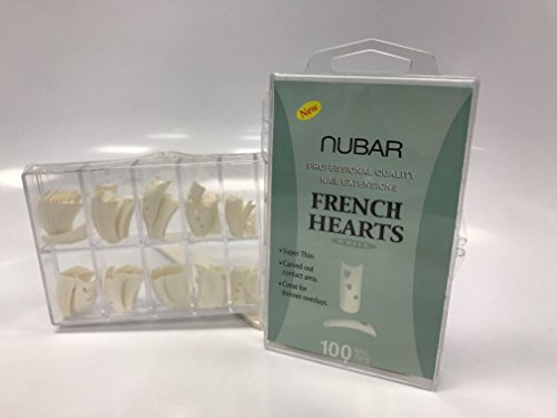 Nubar Professional Salon Quality French Hearts White Nail Tips
