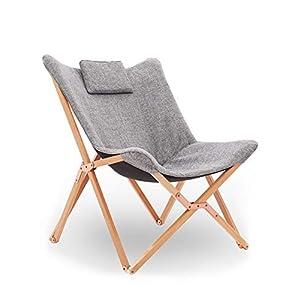 Chaise Longue Pliable Fauteuil Relaxation Pliante Chaise de Plage Design en Tissu Bois pour Exterieur Jardin Tressée…