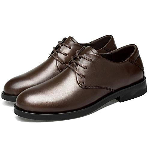 Cordones Invierno Zapatos De Botas Brown Negocios Formal Moda Vestir Retro Marrón Brogues Cortas Con Hombre Otoño Para Puntiagudo 7qTwvdrq