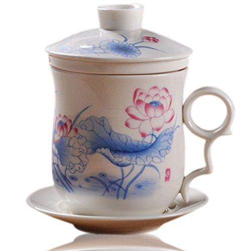 Red Blue Teacup - 6