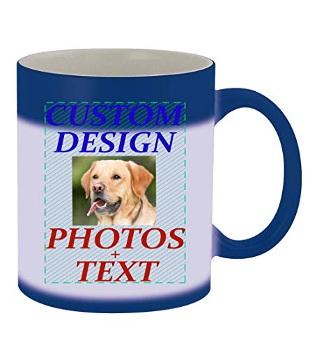 Custom Printed 11oz Ceramic Magic Color Changing Mug CP06, Blue |