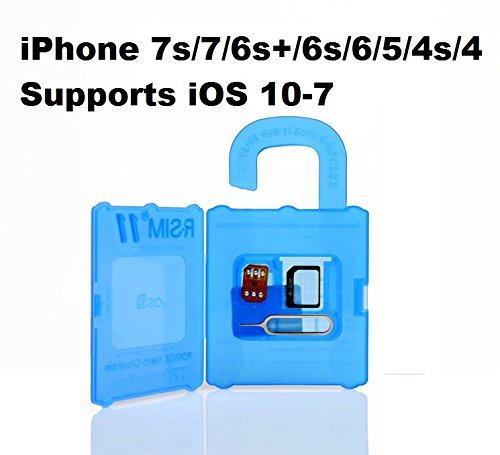 R-SIM 11 unlock Apple iPhone 7S 7 6S+ 6S 6 5C 5S 4S 4 supports iOS 10-7.X GSM Verizon Sprint CDMA RSIM
