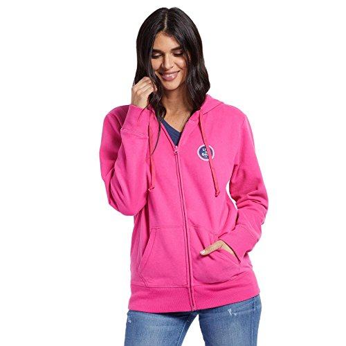 Life is Good Womens Go-to Zip Hoodie Sphere, Fiesta Pink, - Zip Life Womens Hoodie