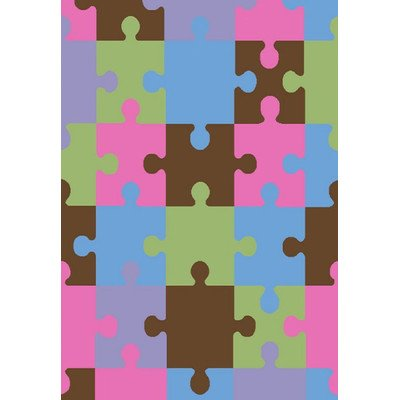 Alisa Jigsaw Puzzle Kids Rug Rug Size: 5' x 7'